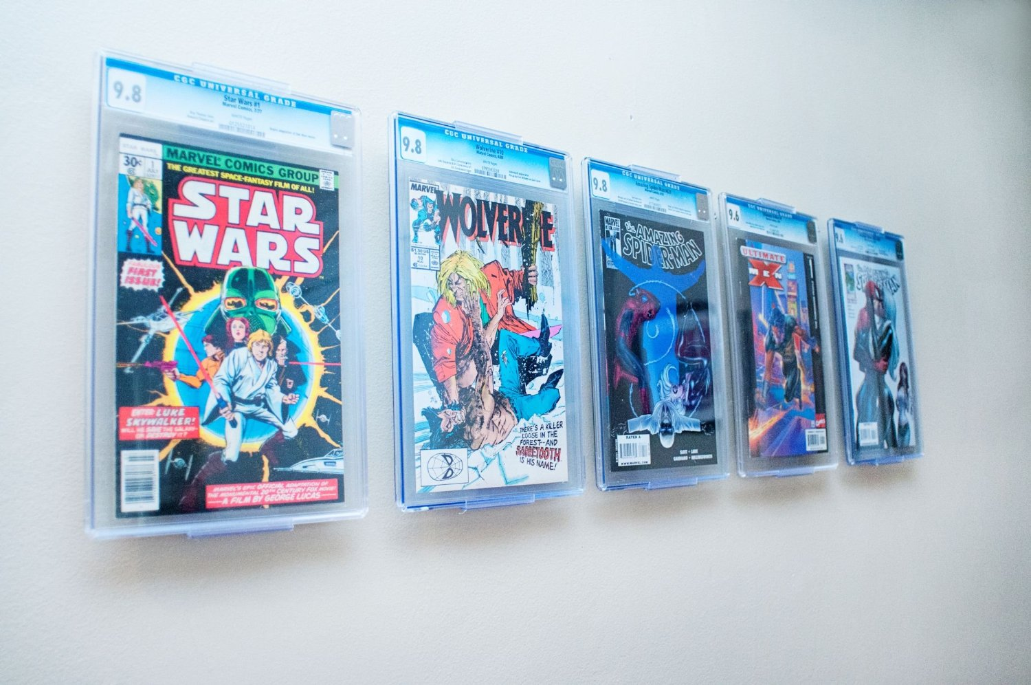 How to effectively display slabbed comic books the comic doctor - Comic book display shelves ...