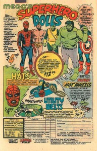 handling comic books, mego advert
